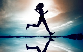 Girl Running wallpapers and stock photos