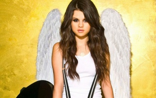 Selena Gomez Angel Wings wallpapers and stock photos