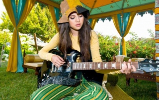 Selena Gomez Guitar wallpapers and stock photos