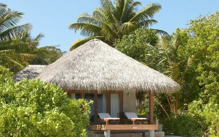 Male Atoll Hut wallpapers and stock photos