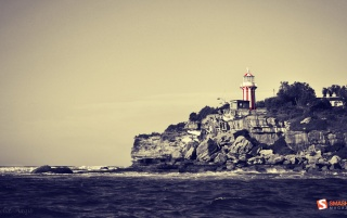 Red and white lighthouse wallpapers and stock photos