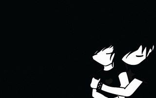 Emo boy and girl wallpapers and stock photos