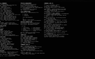 Linux cheat sheet wallpapers and stock photos