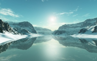 Icy Blue Lake wallpapers and stock photos