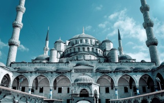 Sultan Ahmed Mosque wallpapers and stock photos