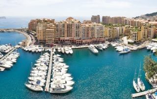 Monte Carlo harbor wallpapers and stock photos
