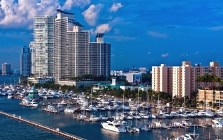 Miami shipping port wallpapers and stock photos