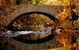 Bridge in autumn wallpapers and stock photos