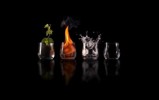 Next: Earth fire water air glasses