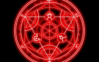 Red Alchemist Circle wallpapers and stock photos
