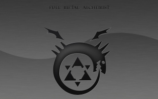 Black Full Metal Alchemist Symbol wallpapers and stock photos