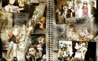 Full Metal Alchemist Collage wallpapers and stock photos