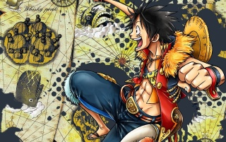 Luffy Monkey Luffy la One Piece wallpapers and stock photos