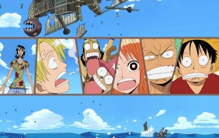 One Piece at Sea wallpapers and stock photos
