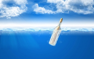 Message in a bottle wallpapers and stock photos