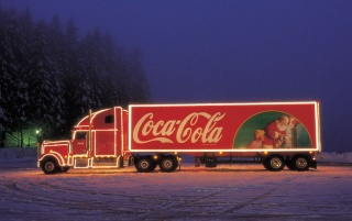 Coca Cola truck wallpapers and stock photos