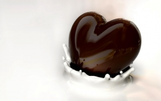 Chocolate heart wallpapers and stock photos