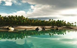 Tropical Island 2 wallpapers and stock photos