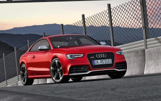 Audi RS5 Front Angle 3 wallpapers and stock photos