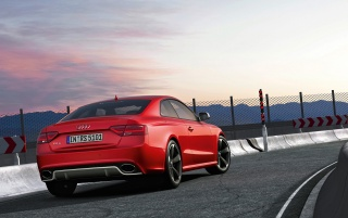 Audi RS5 Rear and Side Track wallpapers and stock photos