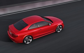 Audi RS5 Rear and Side Top Speed wallpapers and stock photos