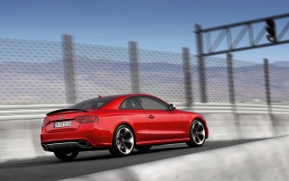 Audi RS5 Rear and Side Spoiler Raised wallpapers and stock photos