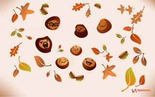 Autumn faces wallpapers and stock photos