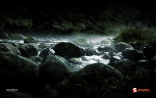 Dark river wallpapers and stock photos