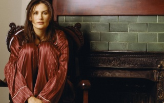 Demi Moore Fireplace wallpapers and stock photos