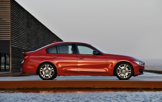2012 BMW 3 Series Sedan Sport Line Side wallpapers and stock photos