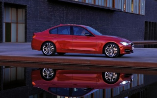 2012 BMW 3 Series Sedan Sport Line Side Reflection wallpapers and stock photos