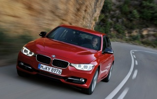 2012 BMW 3 Series Sedan Sport Line Winding Road wallpapers and stock photos