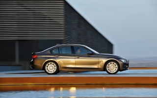 BMW 3 Series Sedan Modern Line Side wallpapers and stock photos