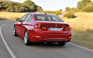 BMW 3 Series Sedan Sport Line Rear Angle wallpapers and stock photos