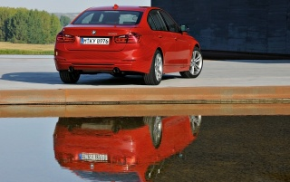 BMW 3 Series Sedan Sport Line Reflection wallpapers and stock photos