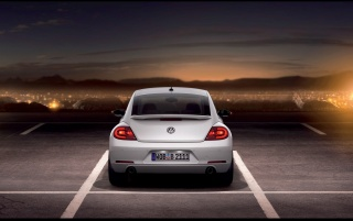 2012 Volkswagen Beetle White Rear wallpapers and stock photos