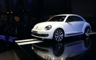 2012 Volkswagen Beetle World Premiere Berlin Side wallpapers and stock photos