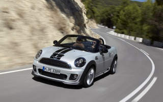 Mini Roadster Front Angle Speed wallpapers and stock photos