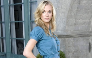 Yvonne Strahovski Blue Blouse wallpapers and stock photos