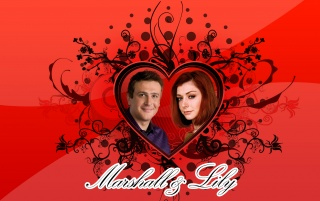 Marshall and Lily from How I M wallpapers and stock photos