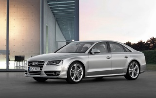 2012 Audi S8 Front And Side wallpapers and stock photos