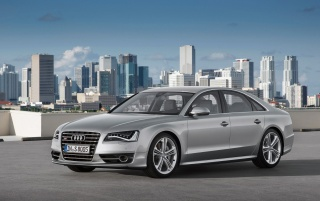 2012 Audi S8 Side wallpapers and stock photos