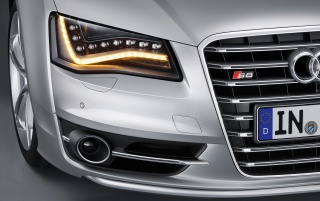 2012 Audi S8 Headlights wallpapers and stock photos