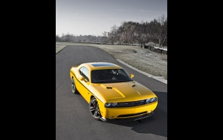 Random: 2012 Dodge Challenger SRT8 392 Yellow Jacket Front Angle