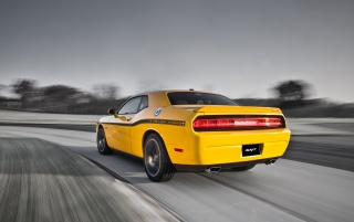 Random: 2012 Dodge Challenger SRT8 392 Yellow Jacket Rear Angle Speed