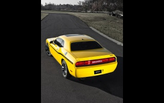 2012 Dodge Challenger SRT8 392 Yellow Jacket Rear Angle Top wallpapers and stock photos