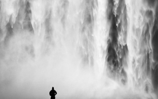 Black and White Waterfall wallpapers and stock photos