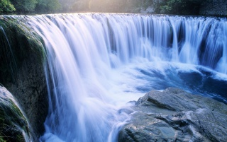 Blue Waterfall wallpapers and stock photos