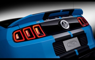 2013 Blue Shelby GT500 Taillights wallpapers and stock photos