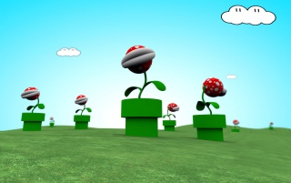 Mario plants wallpapers and stock photos